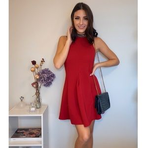Embellished Fit-and - Flare Dress